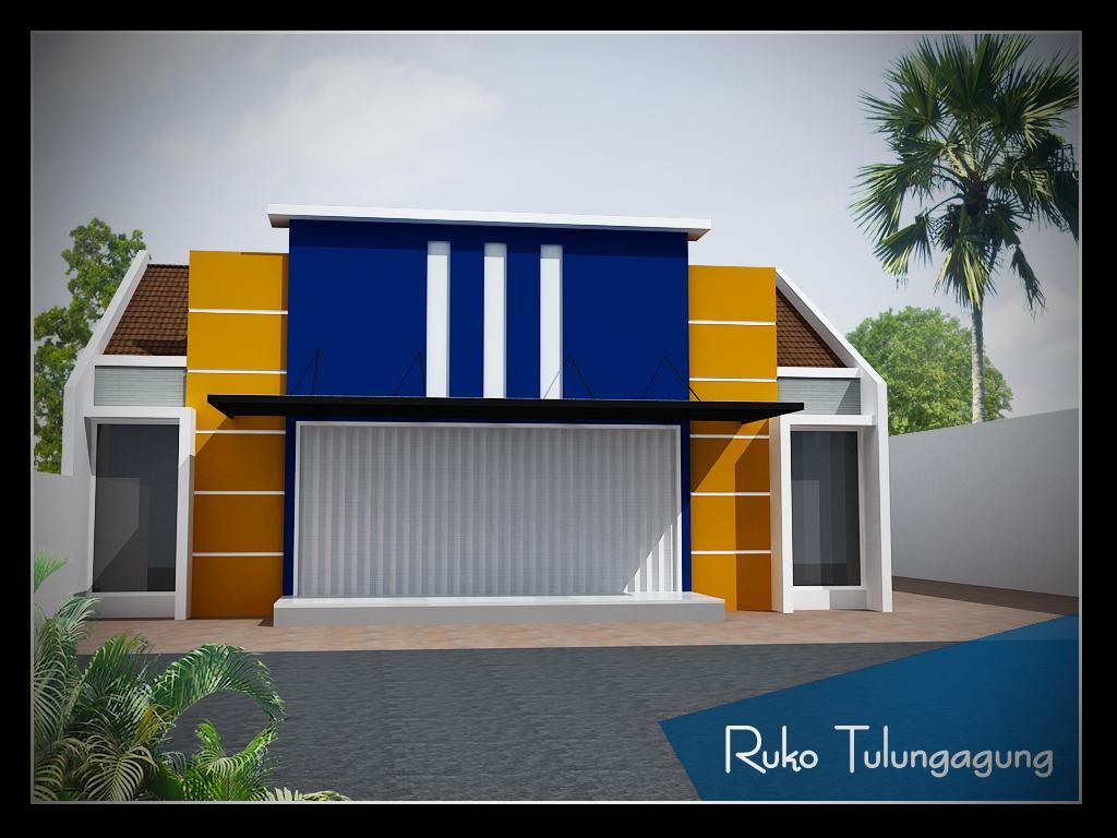 Toko Minimalis 1 Lantai, ukuran bangunan 12 m x 10 m